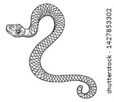 snake drawing illustration.... | Shutterstock .eps vector #1427853302