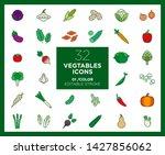 set of vegetables icons in...   Shutterstock .eps vector #1427856062