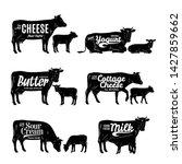 vector milk product logo  cow... | Shutterstock .eps vector #1427859662