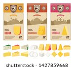 vector cheese vintage labels... | Shutterstock .eps vector #1427859668