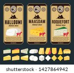 vector cheese vintage labels... | Shutterstock .eps vector #1427864942