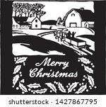 merry christmas 6   retro ad... | Shutterstock .eps vector #1427867795