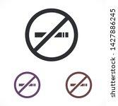 no smoking vector icon eps 10   ...