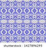 lace border. ikat seamless... | Shutterstock .eps vector #1427896295