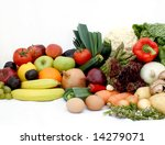 large display of various fruit... | Shutterstock . vector #14279071