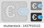 mesh euro purse model with... | Shutterstock .eps vector #1427910122