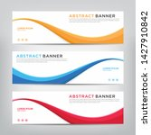 abstract wave web banner... | Shutterstock .eps vector #1427910842