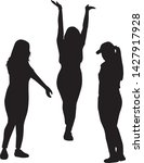 women black silhouette  vector... | Shutterstock .eps vector #1427917928