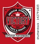 vintage americana style victory ... | Shutterstock .eps vector #142791835