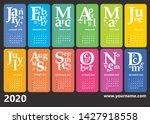creative wall calendar 2020... | Shutterstock .eps vector #1427918558