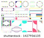 set of four colored frames and...   Shutterstock . vector #1427936135
