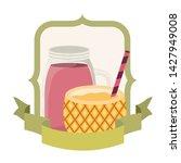 pineapple cocktail for summer... | Shutterstock .eps vector #1427949008
