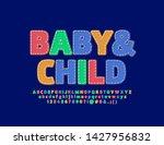 vector bright emblem baby  ... | Shutterstock .eps vector #1427956832