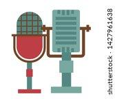 retro vintage microphone... | Shutterstock .eps vector #1427961638