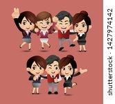 friends characters set vector.... | Shutterstock .eps vector #1427974142