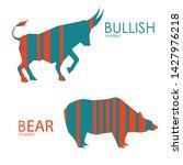 bear and bull vector logo.... | Shutterstock .eps vector #1427976218