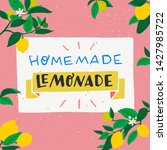 homemade lemonade handdrawn... | Shutterstock .eps vector #1427985722