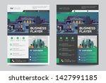 corporate business flyer poster ... | Shutterstock .eps vector #1427991185