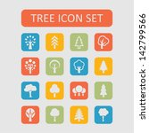 set of tree icons | Shutterstock .eps vector #142799566