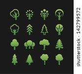 tree symbols | Shutterstock .eps vector #142799572