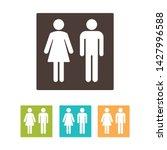 restroom gender icon symbols... | Shutterstock .eps vector #1427996588