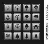 tree icons. nature symbols. | Shutterstock .eps vector #142799662