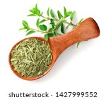 Dried Thyme Leaves In The...