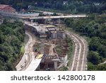 construction of the of roads... | Shutterstock . vector #142800178