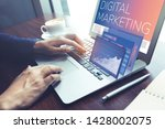 digital marketing concepts with ... | Shutterstock . vector #1428002075