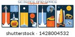science and space propaganda... | Shutterstock .eps vector #1428004532