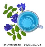 butterfly pea juice isolated on ... | Shutterstock . vector #1428036725