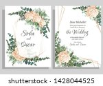 vector template for wedding... | Shutterstock .eps vector #1428044525