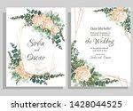vector template for wedding...   Shutterstock .eps vector #1428044525