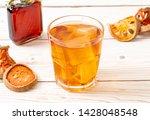 bael fruit herbal drink glass... | Shutterstock . vector #1428048548