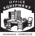 office equipment 2   retro ad... | Shutterstock .eps vector #1428051218