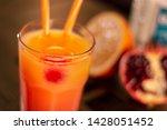 bar orange and pomegranade... | Shutterstock . vector #1428051452