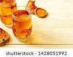 bael fruit herbal drink glass... | Shutterstock . vector #1428051992