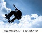 blue toned moonlight...   Shutterstock . vector #142805422