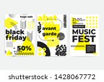 universal trend posters set... | Shutterstock .eps vector #1428067772