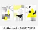universal trend posters set... | Shutterstock .eps vector #1428070058