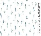 seamless pattern. hand drawn... | Shutterstock . vector #1428083978