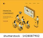 isometric image on the yellow... | Shutterstock .eps vector #1428087902