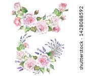 set of roses illustrations...   Shutterstock . vector #1428088592