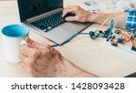 programmer professional routine.... | Shutterstock . vector #1428093428