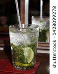 drinks in the restaurant ... | Shutterstock . vector #1428099278