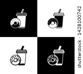 set soda drink with drinking... | Shutterstock .eps vector #1428100742