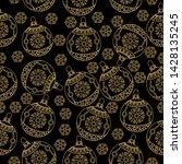 seamless pattern. christmas... | Shutterstock .eps vector #1428135245