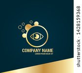 eye gold logo concept. designed ...