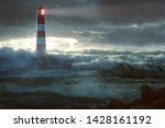 Glowing Lighthouse During Heav...