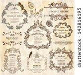 vector set  calligraphic design ... | Shutterstock .eps vector #142816195
